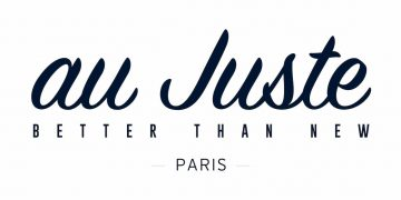 Logo au Juste - marque de vêtements 100% upcyclée et fabriquée en France